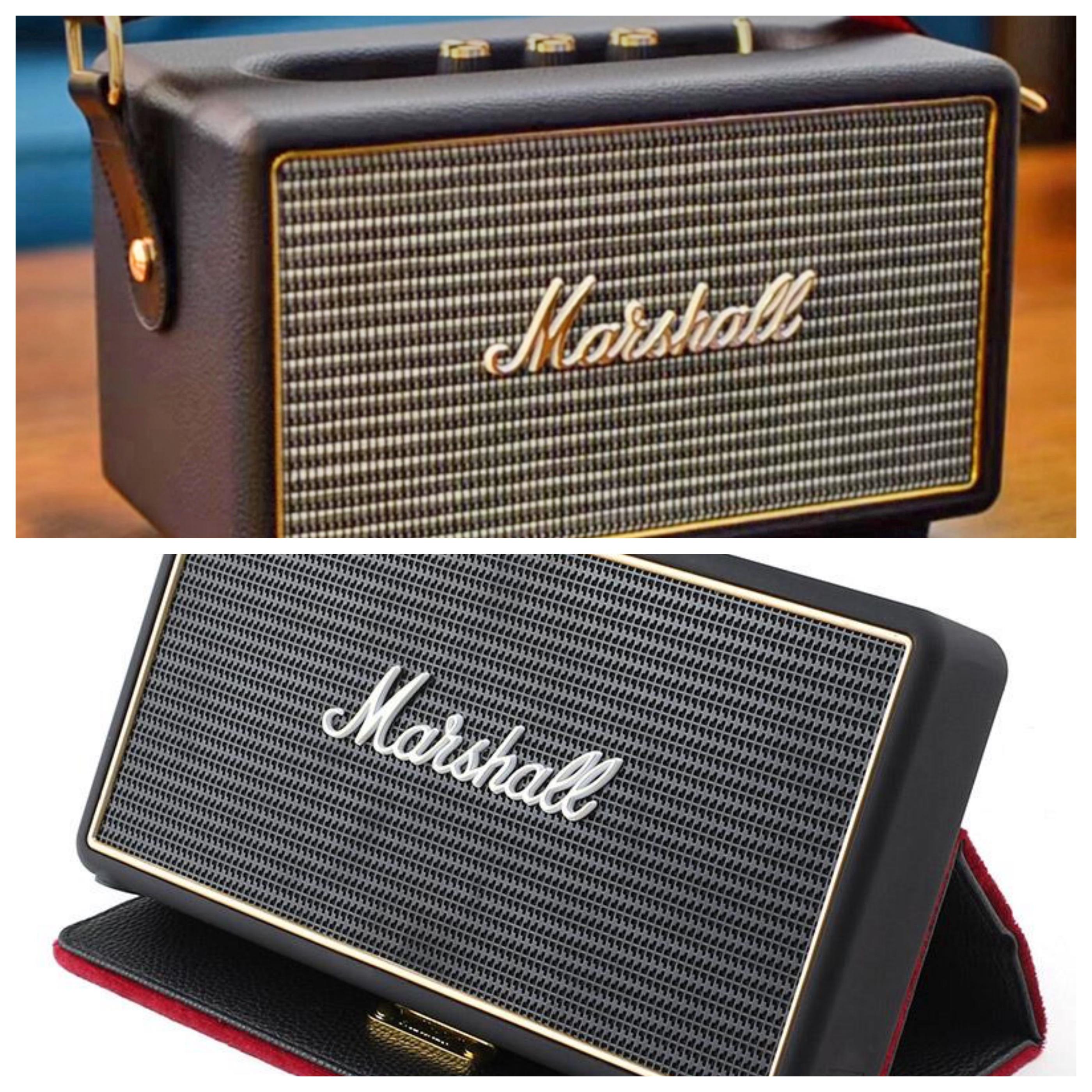 Marshall Gold//Black Stockwell Portable Bluetooth Speaker