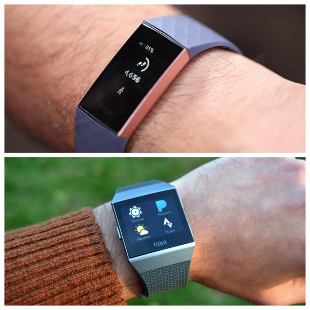 Fitbit Charge 3 Vs Ionic Comparison Review Position Charcoal Smoke Gray